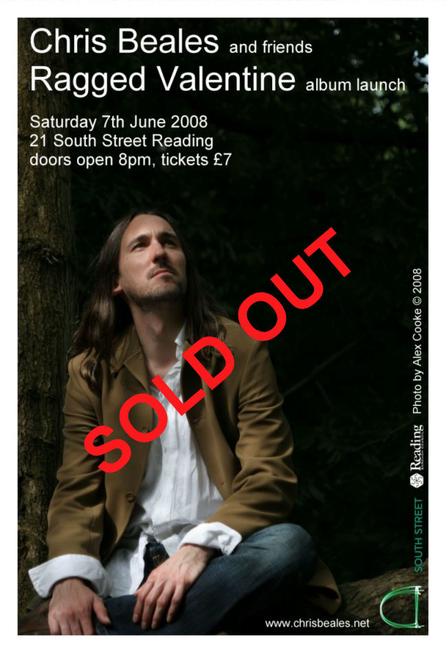Launch gig poster - sold out